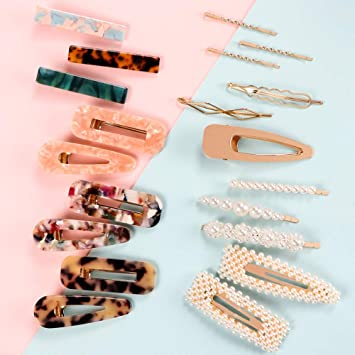 Women Pearl Hair Clip Barrette Stick Bobby Hairpin Heart Hair Accessories New YE