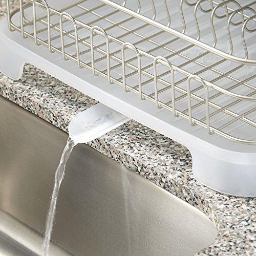 Interdesign Metro Aluminum Dish Drainer With Swivel Spout