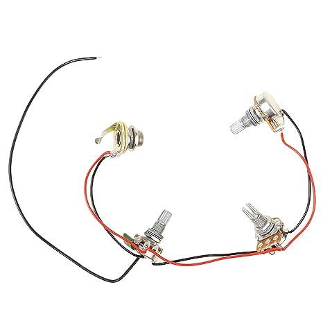 sharplace Cablaggi circuitos para accesorio de guitarra bajo Jazz 2 V1t1j 2 Volumen 1 tono 500