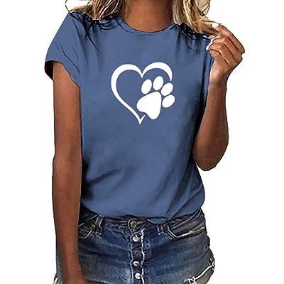 Sylar Camisetas Mujer Manga Corta Casual Camisetas Mujer Verano Originales Blusas De Mujer Estampado De Corazón Blusas De Mujer Tallas Grandes Casual Fiesta Elegantes Blusas para Mujer: Ropa y accesorios