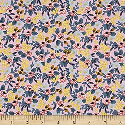 Steel Rifle Paper Co Menagerie Rosa Hunter Fabric by The Yard Cotton