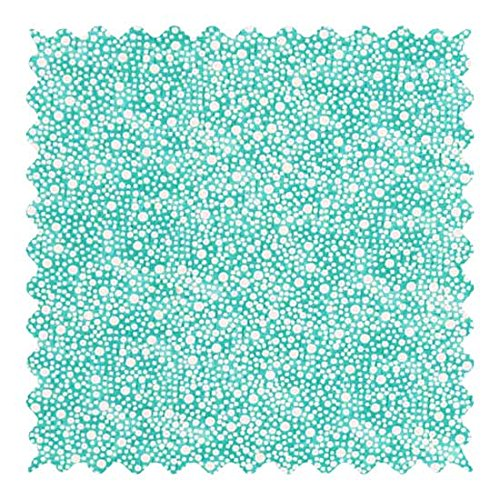 (SheetWorld 100% Cotton Percale Fabric by The Yard, Confetti Dots Aqua, 36 x 44)