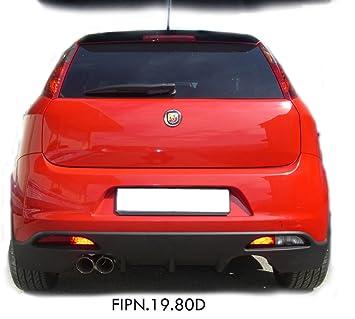 InoXcar FIPN.19.80D Silenciador Trasero de Acero Inoxidable, 80 mm: Amazon.es: Coche y moto