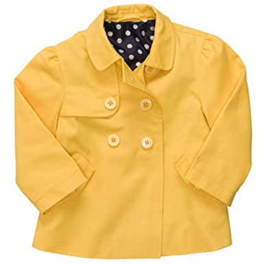 Amazon.com: Carter's Denim Brights Collection: Yellow Girls Trench ...