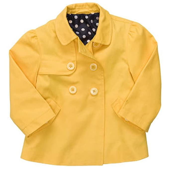 2816d5815928a Amazon.com: Carter's Denim Brights Collection: Yellow Girls Trench ...