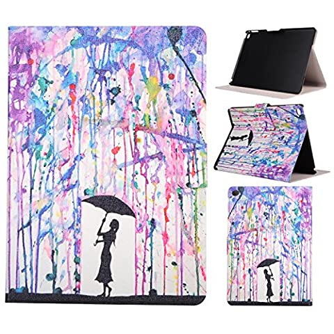 New iPad 9.7 2017 case, Jessica Painted Series Lightweight Premium PU Leather Folio Flip Smart Stand Wallet Case with Built in Card Slots & Money Slot for Apple New iPad 9.7 inch (2017 (Ipad Air 2 Cover Tiger)