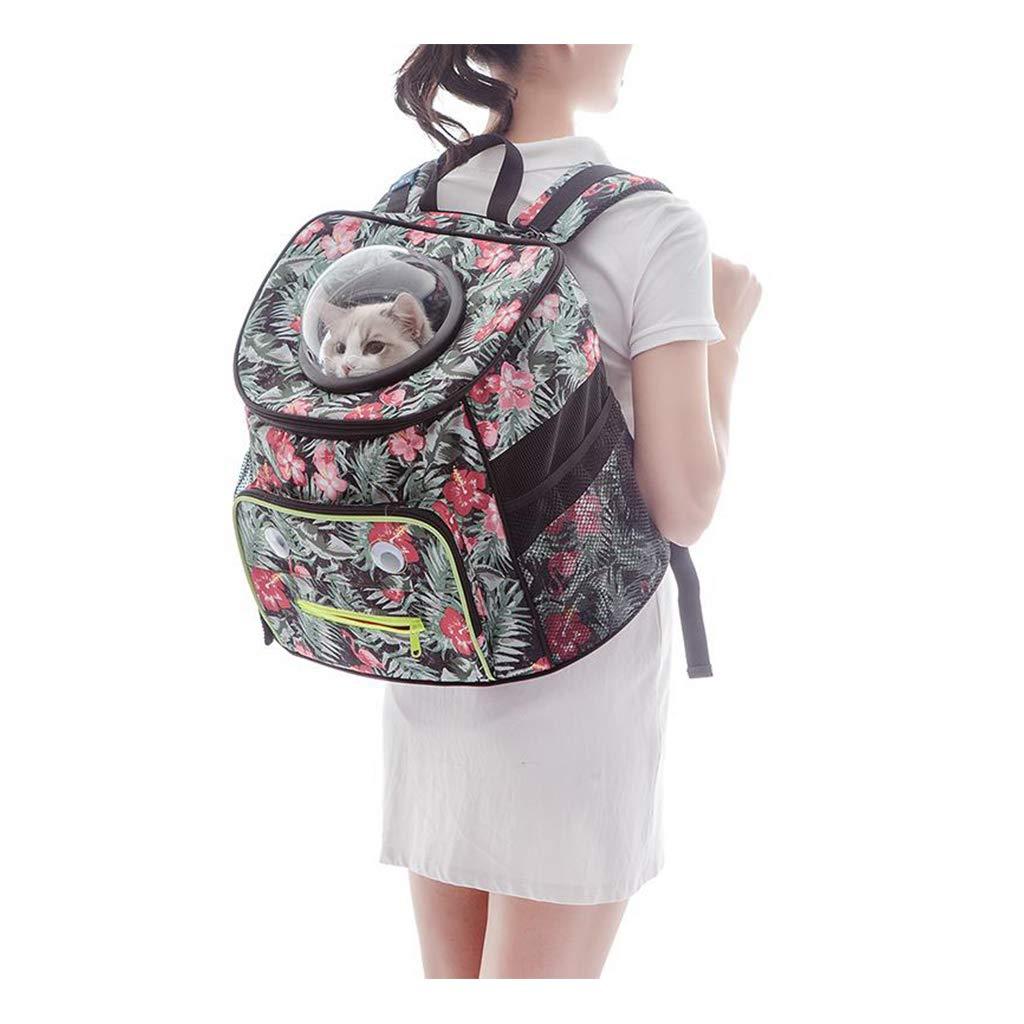 FJH Pet Bag Backpack Large Capacity Flamingo Cat Bag Out Carrying Bag Teddy Travel Bag Dog Bag Cat Cage Space Capsule Cat Supplies Package
