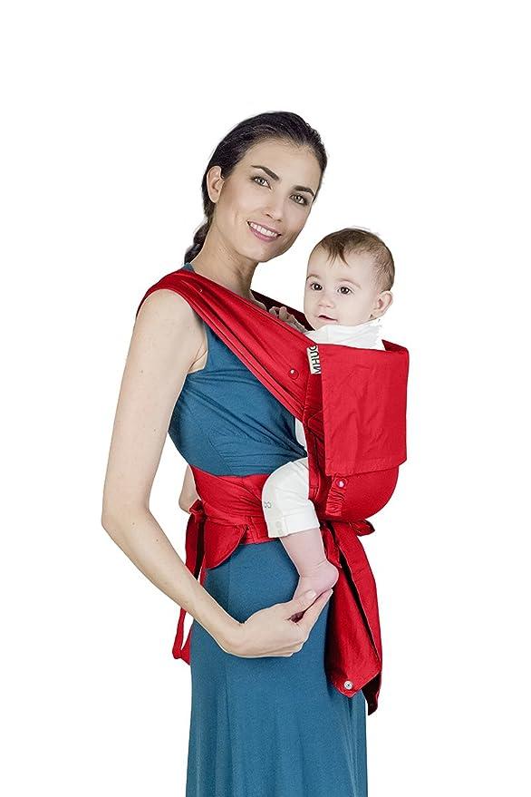 MHUG, portabebés Mei Tai ergonómico y patentado Strawberry: Amazon.es: Bebé