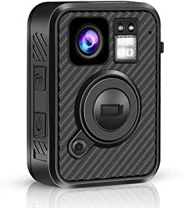 BOBLOV F1 Body Camera 2K 1440P GPS 32G Police Body Camera One Big Button for Recording Night Vision Camcorder with .66inch Screen (Built-in 32G) No WiFi Version