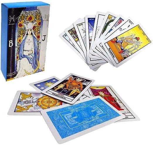 Soul hill Cartas del Tarot: La adivinación Destino Tarot Tarjetas de Juego, Ruso Tarjetas de Tarot Juego de Mesa con Caja Colorida zcaqtajro: Amazon.es: Hogar
