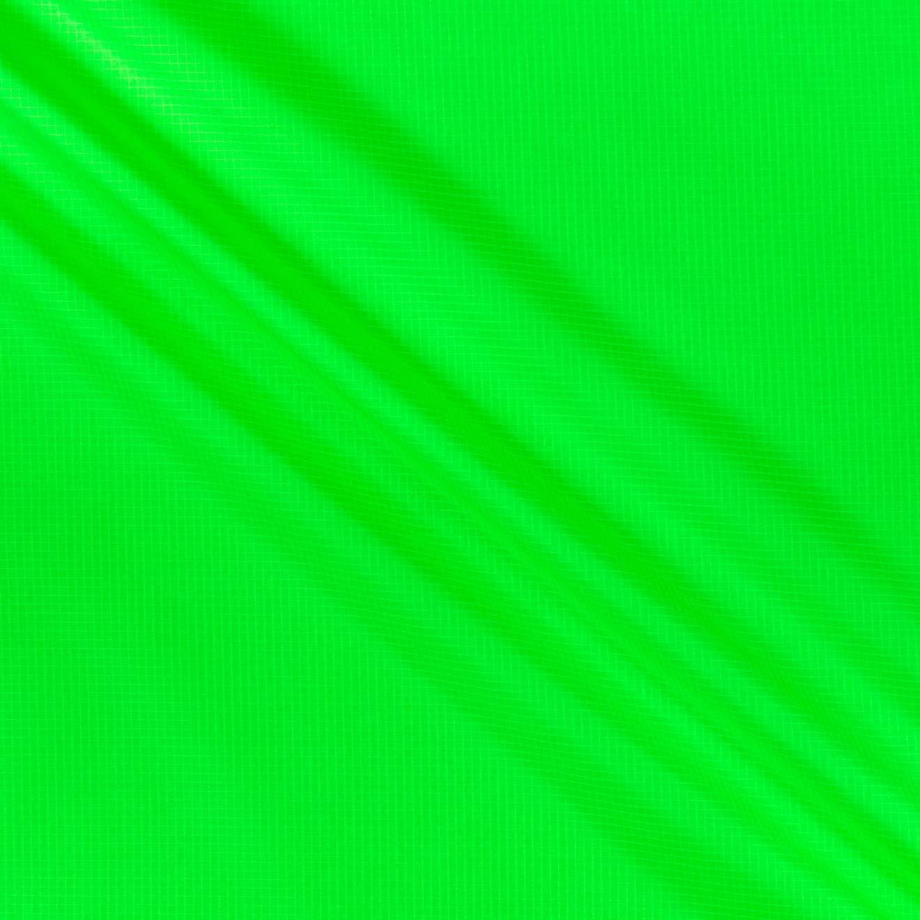 1.9 Oz. Ottertex Nylon Ripstop 70 Denier DWR Neon Green Fabric by the Yard