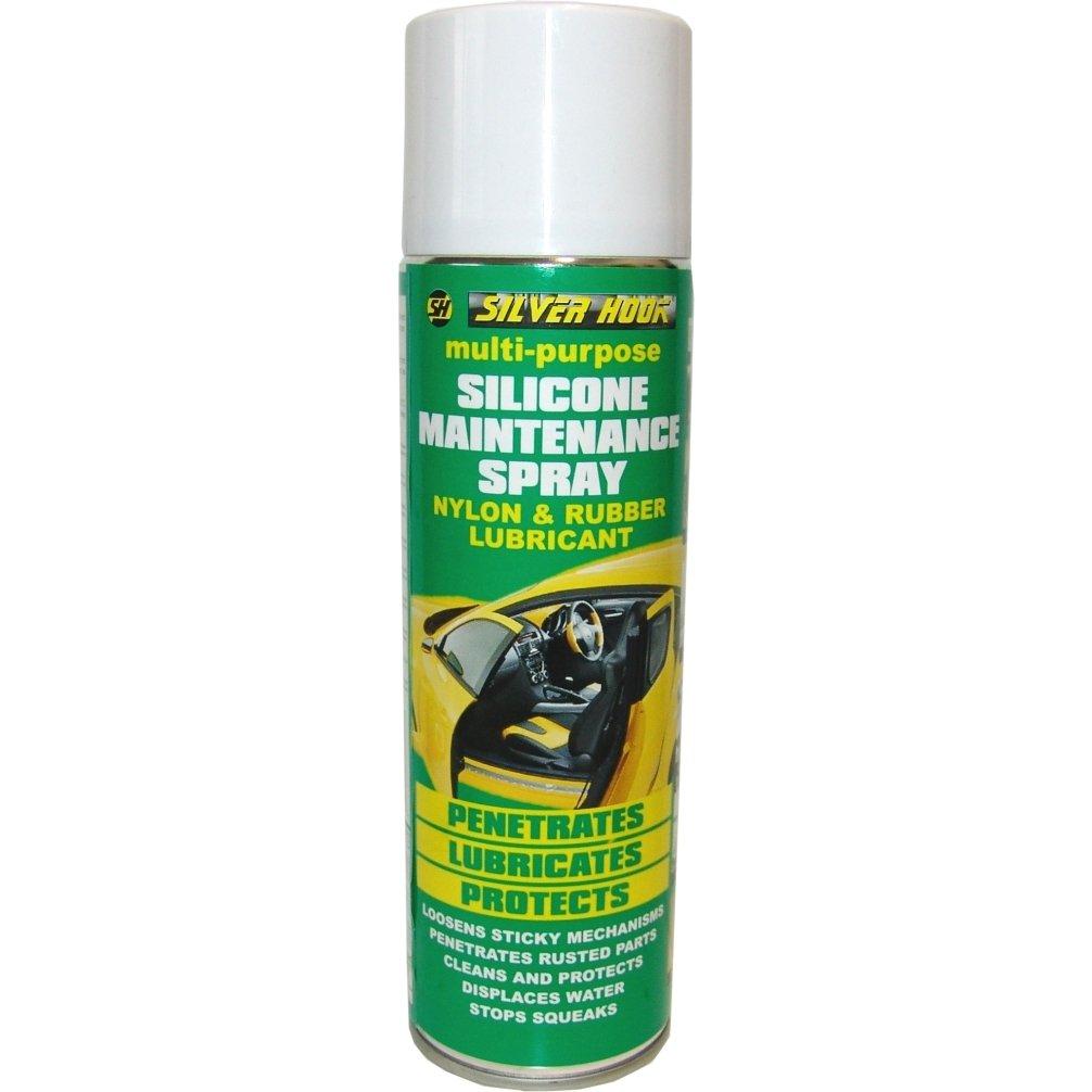 Silverhook SGNR1 Silicone Maintenance Spray, Nylon And Rubber Lubricant, 500 ml Ware Motorama Ltd T/A Silverhook