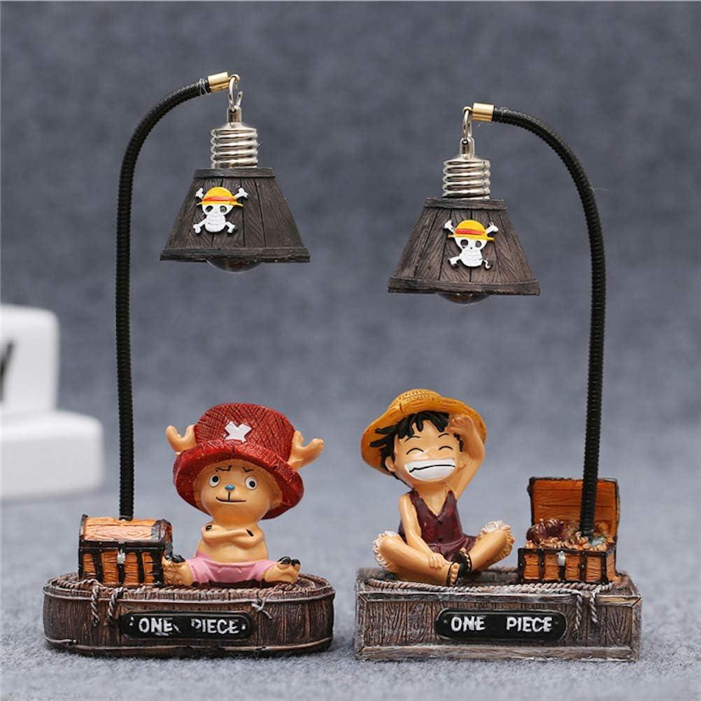 Lote de 2 l/ámparas de noche de One Piece Luffy Choba para decoraci/ón del hogar