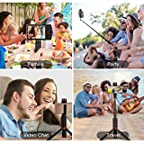 CAMOLO Selfie Stick Extendable Tripod with
