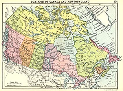 Amazon Com Canada Dominion Of Canada And Newfoundland Small Map