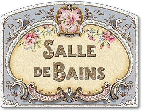 Fairy Freckles Studios Item 4251 Decorative French Bathroom Sign Salle de Bains