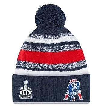 a5faa3438 Los New England Patriots Clasico Super Bowl XLIX campeones Gorro de Punto  Sports Knit NFL New Era Beanie Gorra  Amazon.es  Deportes y aire libre