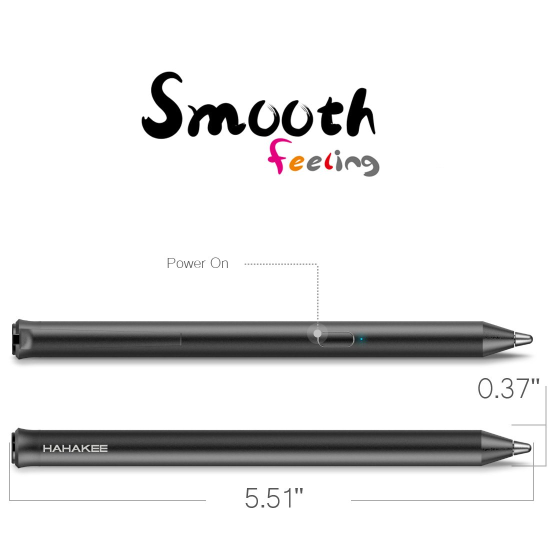 HAHAKEE iPad Stylus Pen, No Bluetooth Connection, Support 40hrs Working & 30Days Standby, High Precision Rechargeable Stylus for ipad Series, Passed FCC Certification by HAHAKEE-life (Image #5)