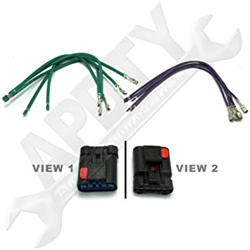 61cwt5hLwVL._SY355_ amazon com apdty 5017124ac hvac blower motor resistor wiring wiring pigtails for automotive at virtualis.co