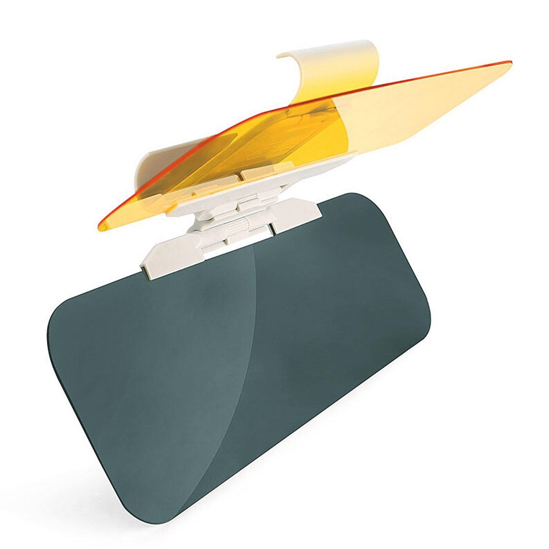 VZCY Car Day and Night Anti-Glare Visor Sun Visor Extender, Universal Sunshade Mirror Goggles Shield, Night Vision Anti-Dazzle Windshield Driving Visor (Car Sun Visor) AU01001