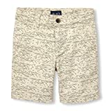 The Children's Place Big Boys' Print Shorts, Stone 02141, 7