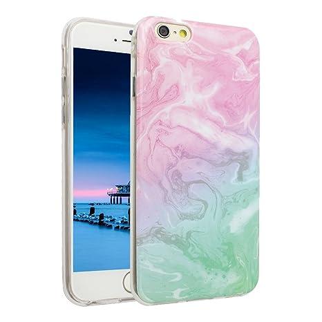 Asnlove iPhone SE 5 5S Funda, Carcasa de Gel TPU Silicona con Textura de Mármol Slim Soft Flexible Anti-Arañazos Espalda Parachoques Tapa Trasera Case ...