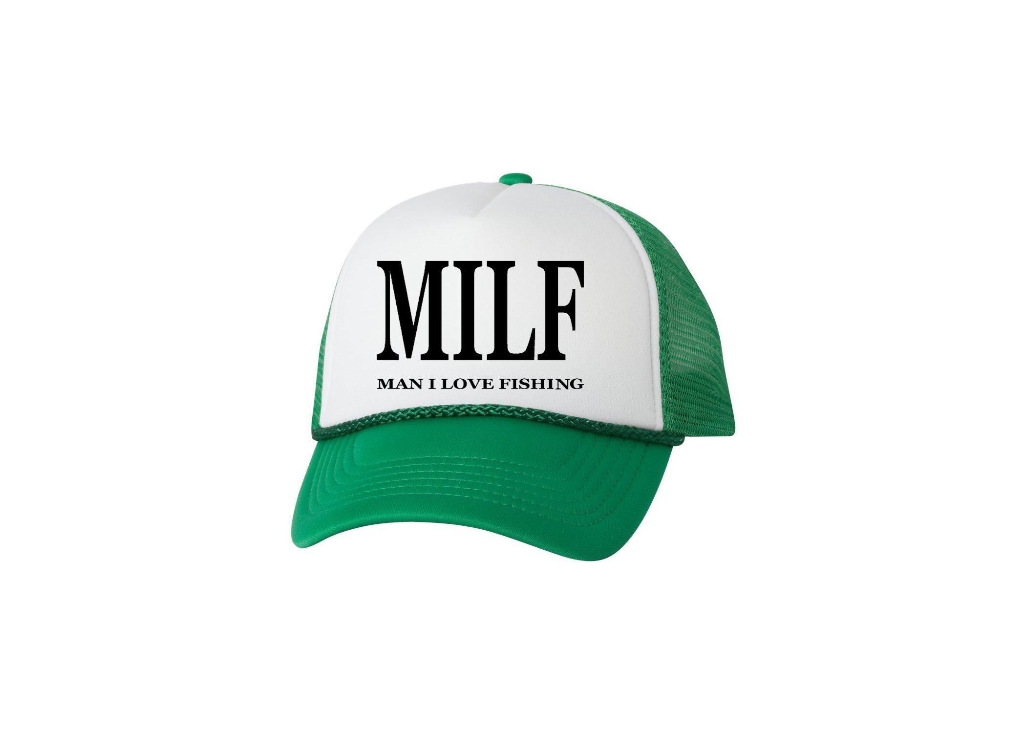 65fb4bb1f Rogue River Tactical Funny Trucker Hat Milf Man I Love Fishing Fishing Baseball  Cap Retro Vintage Joke Fish (Green)