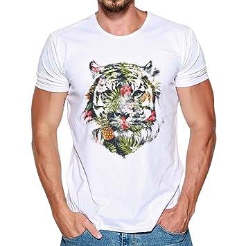 Amlaiworld Camisas de Hombre Verano Camisetas Hombre 3D Originales Manga Corta Camiseta hombre Térmica