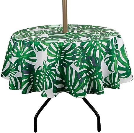 Table de jardin ronde avec trou pour parasol et fermeture à ...