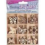 Darice 2015-01 Wooden Shapes 45/Pkg-Butterfly