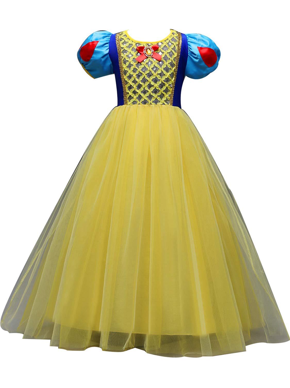 Eiskönigin Elsa Party Kostüm Mädchen Tutu Prinzessin Kleid+Umhang Karneval Cos