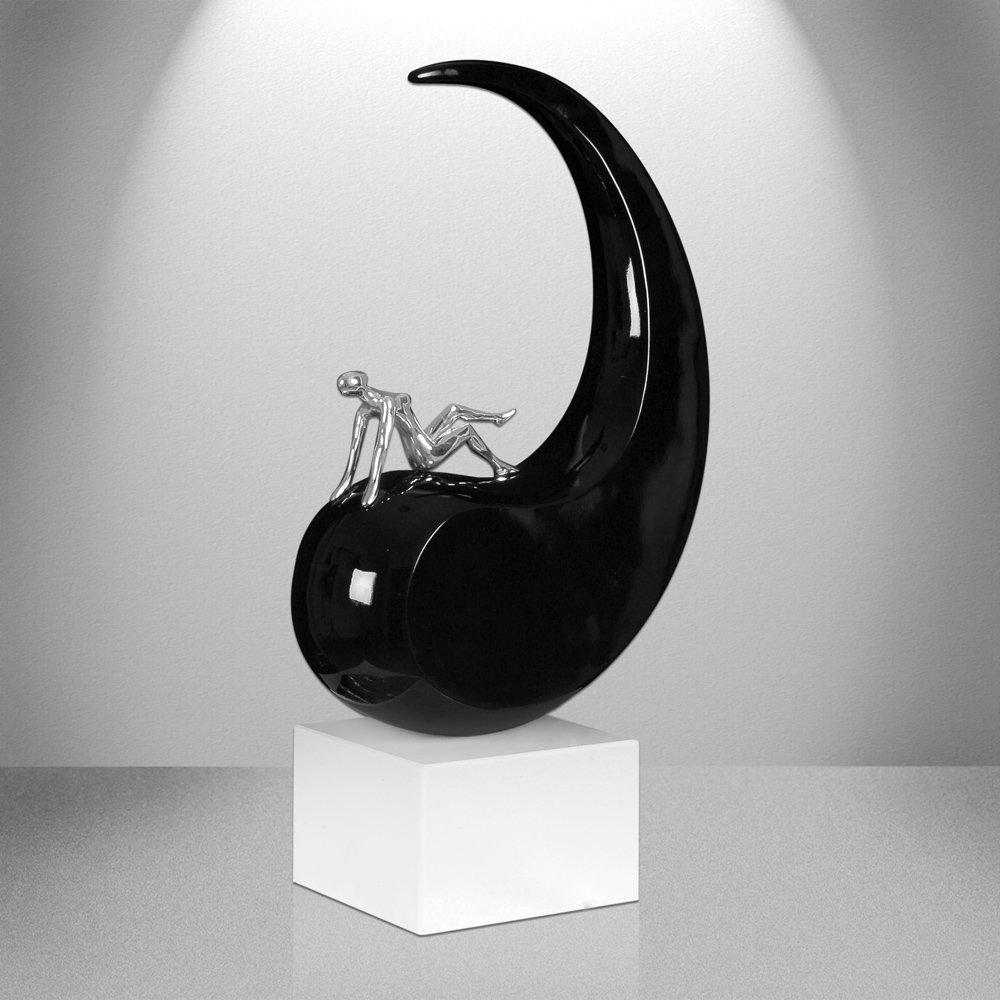 ADM R/êve de Paix Sculpture Moderne en r/ésine laqu/ée avec Socle en marbre D4426PB
