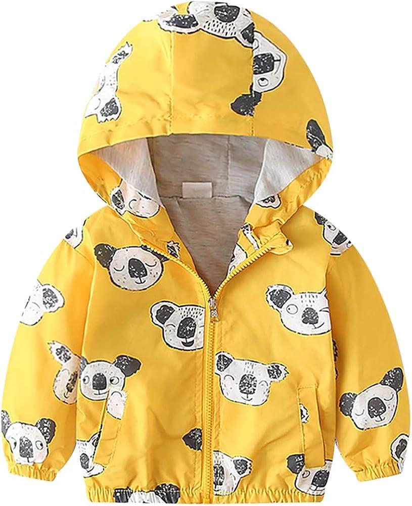 OBEEII Baby Toddler Boy Girl Hoodie Fall Sweatshirt Hooded Outwear Cartoon Jacket Coat: Clothing
