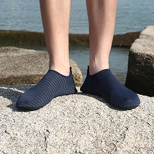 Ceyue Barefoot Water Shoes Breathable Water Sport Shoes Non-Slip Aqua Socks Beach Sandals for Men Women Navy 39/40 by Ceyue (Image #5)