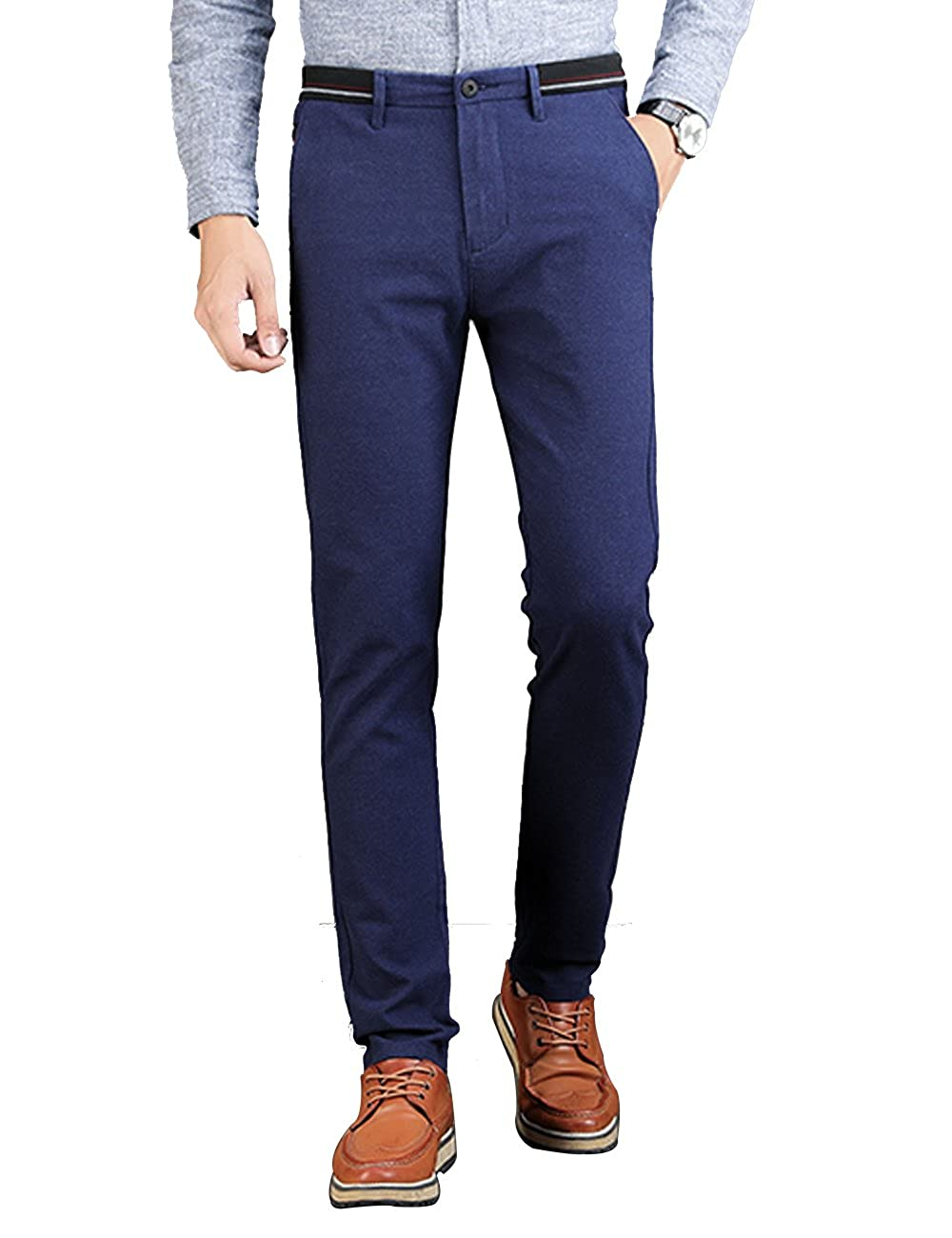 VEGORRS Men's Slim Fit Stretch Slim Fit Casual Pants