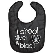WinCraft NFL Oakland Raiders WCRA1963414 All Pro Baby Bib