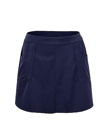 332bcfde43 Amazon.com  Hilor Women s UPF 50+ Athletic Skirted Bikini Bottom Swim  Bottom Skort Tankinis Swimdress  Clothing