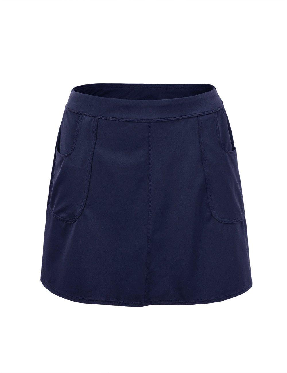Hilor Women's UPF 50+ Swimsuit Bottom Skirt Athletic Cover up Tankini 10 Navy