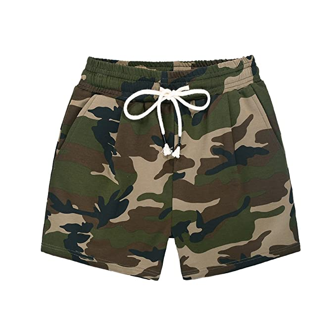012854a84ed00 Women's' Slim Fit Casual Camouflage Athletic Running Shorts Dark Camo Tag S  ...
