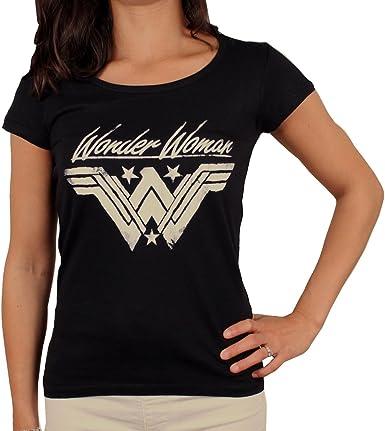 Wonder Woman - Camiseta para mujer, diseño con logotipo de Grunge: Amazon.es: Ropa y accesorios