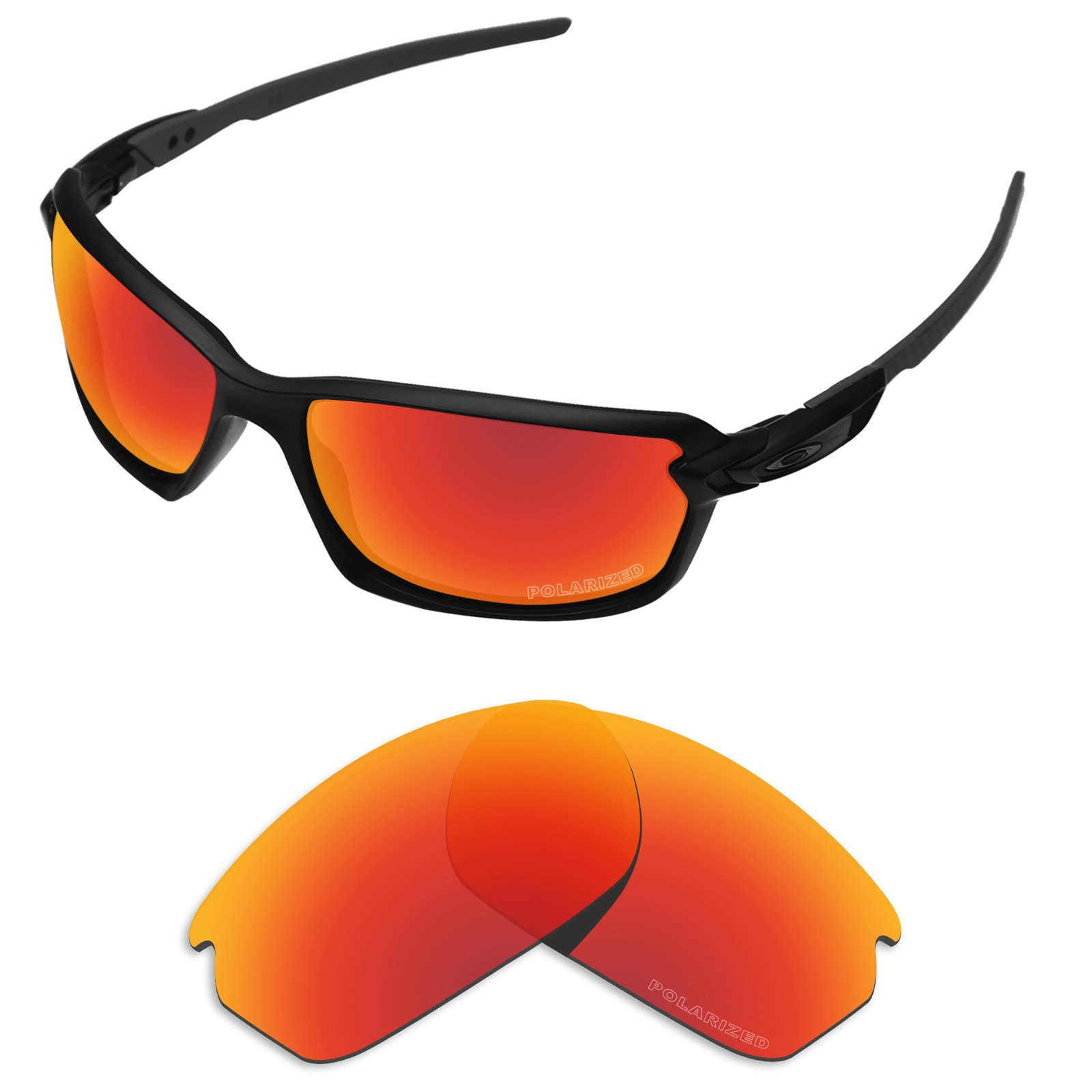 Tintart Performance Replacement Lenses for Oakley Carbon Shift Sunglass Polarized Etched-Fire Red by Tintart