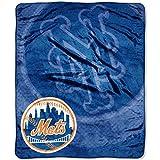 MLB New York Mets Raschel Plush Throw Blanket, Retro Design