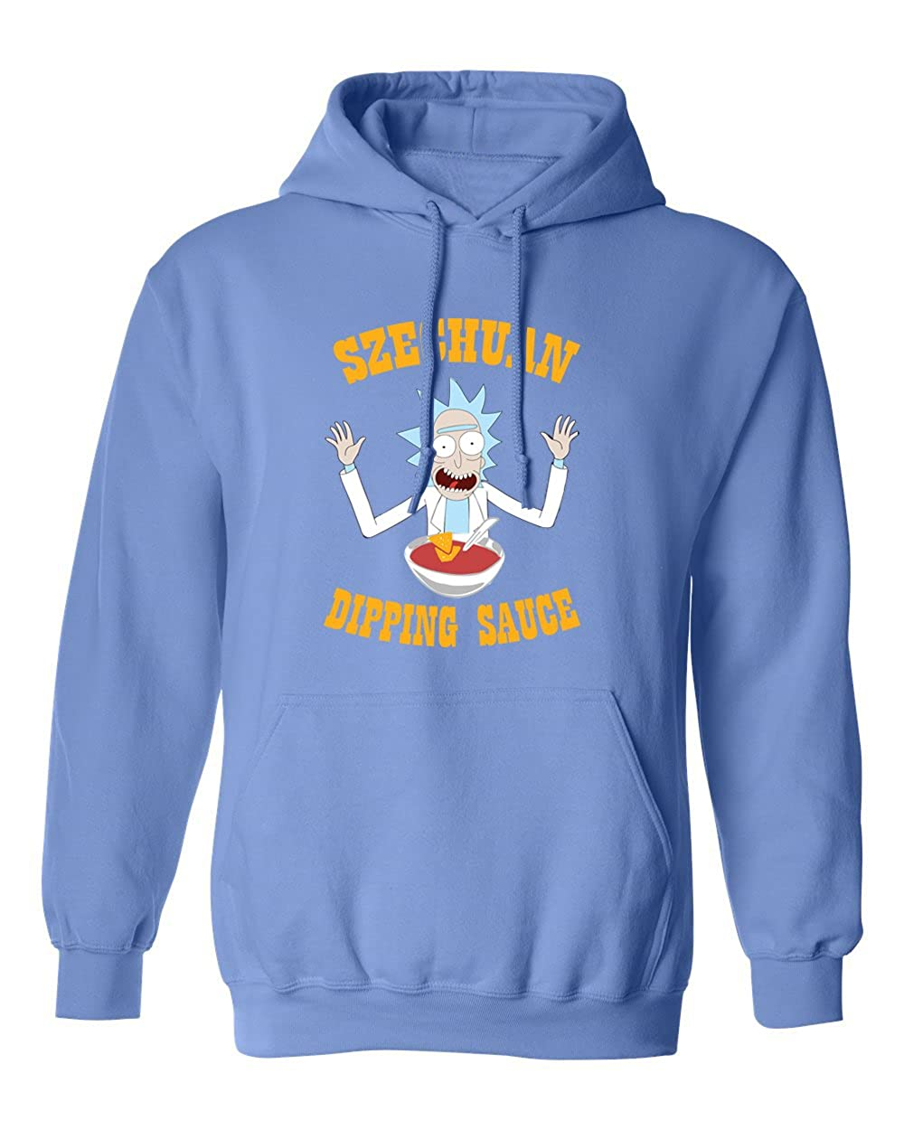KING THREADS Ricky /& Morty Szechuan Sauce Dipping Funny Mens Hoodie Hooded Sweatshirt
