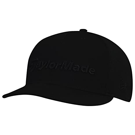 TaylorMade 2017 Performance New Era Tour 9Fifty Flat Bill Hat Structured  Mens Snapback Golf Cap Black bd37f4606fe
