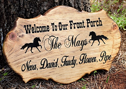 Sign Custom Address Plaque (Front Porch Sign - Address Sign - Address Plaque - Rustic Home Decor - Personalized Gift - Outdoor Address Sign - Family Established Sign)