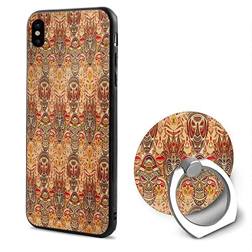 African iPhone x Cases,Tribal Mask Motif with Ethnic