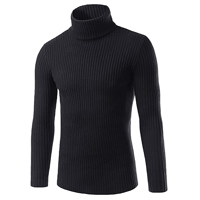 Brave Soul Mens Knit Knitted Long Sleeve Polo Turtle Neck Jumper Sweatshirt Top