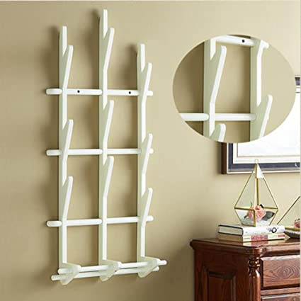 Amazon.com: LIANGJUN Wall Coat Rack Clothes Hat Hanger ...
