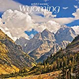 Wyoming Wild & Scenic 2021 12 x 12 Inch Monthly Square Wall Calendar, USA United States of America Midwest State Nature
