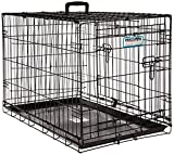 "Petmate ""ProValu"" Wire Dog Crate, Two Doors, Precision Lock System, 6 Sizes For Sale"